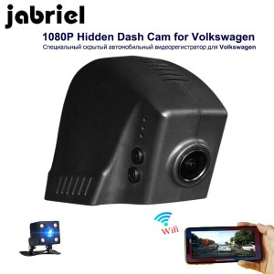 Jabriel auto 1080P vehicle camera hidden wifi car dvr driving recorder dash cam dual lens for 2015 2016 Volkswagen T0URAN PASSAT
