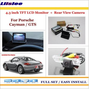 """Liislee For Porsche Cayman / GTS Car Rearview Camera + 4.3"""" LCD Screen Monitor = 2 in 1 Parking Assistance System"""