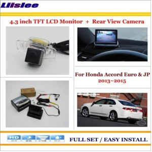 "Liislee For Honda Accord Euro & JP 2013~2015 Auto Rear View Camera Back Up + 4.3"" LCD Monitor = 2 in 1 Parking Assistance System"