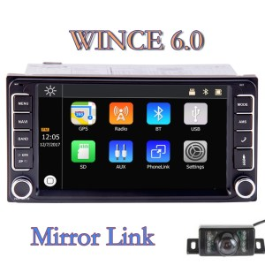 Touch Screen GPS Navigation Car Stereo For Toyota Support Bluetooth SWC FM/AM Radio, Support 1080P Video Mirror Link Rear Camera