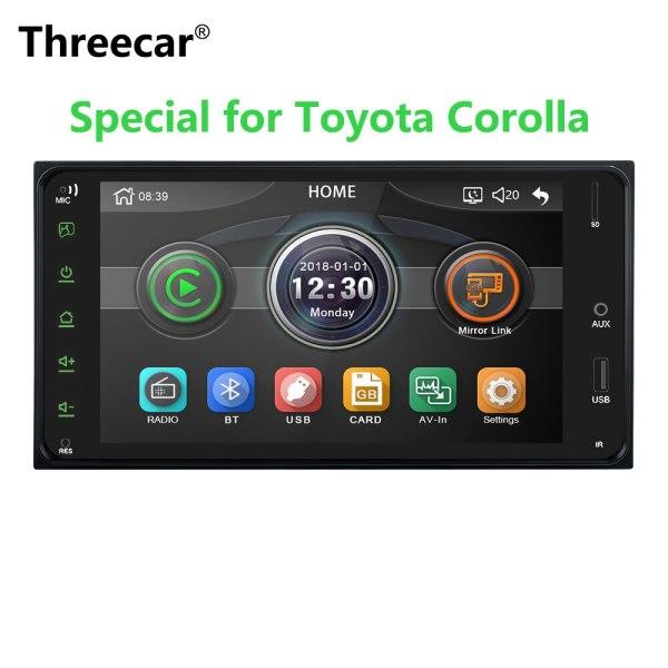 2 din car radio 7 Inch mirror link Andorid 8 Bluetooth/USB/rearview camera For Toyota Corolla Universal Car Multimedia player