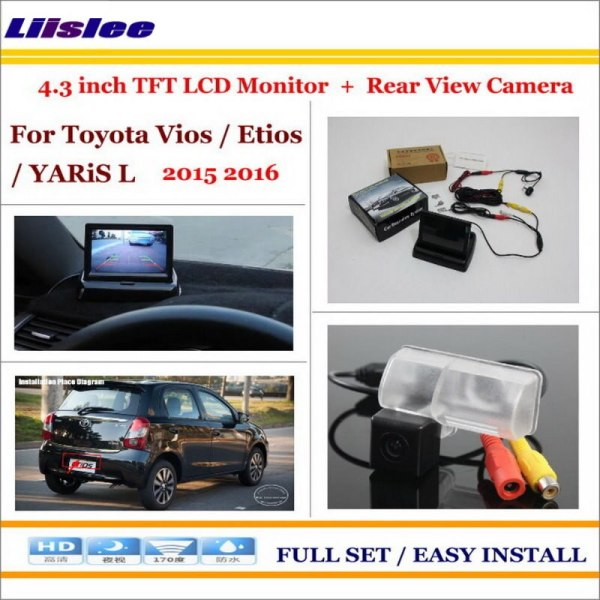 """Liislee For Toyota Vios / Etios / YARiS L 2015 2016 - Car Rearview Camera + 4.3"""" LCD Screen Monitor = 2 in 1 Parking System"""