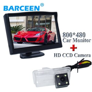 """5"""" display car monitor 800*480 resolution with hd ccd image car parking camera bring 4 led lights for Toyota crown 2015"""