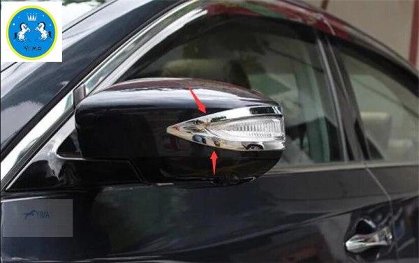 Nissan Sentra Rearview Mirror Cover Strip Molding Trim 2 pcs