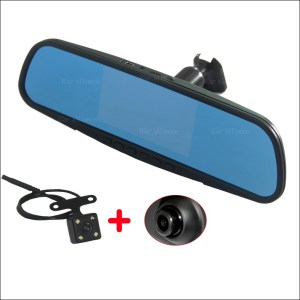 BigBigRoad Car Mirror DVR dual lens camera Video Recorder Dash Cam with Original BracketFor Honda Crosstour jade Avancier