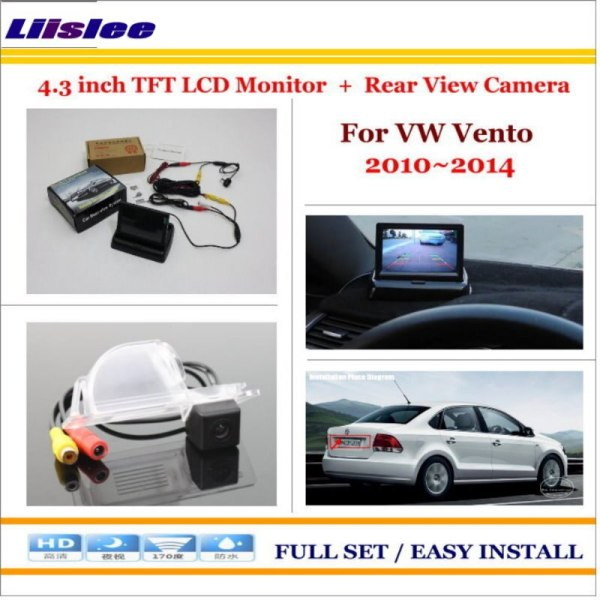 """Liislee For Volkswagen VW Vento 2010~2014 - Car Rearview Camera + 4.3"""" LCD Screen Monitor = 2 in 1 Parking Assistance System"""