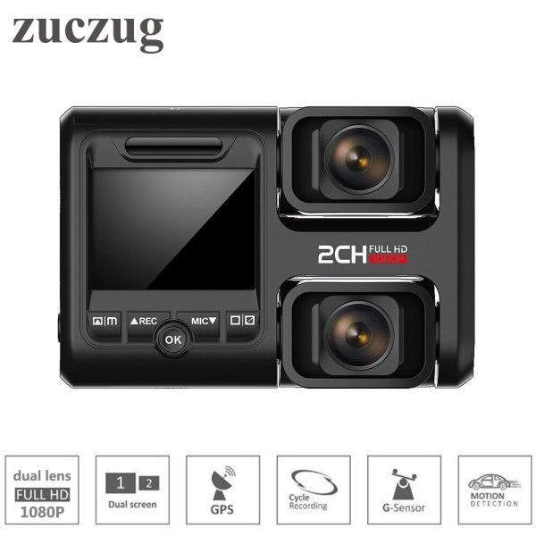 Zuczug Wifi car dvr video recorder build in GPS dual cameras full hd 1080P for seat/front dual 170 degree Novatek 96663 dash Cam