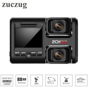 Zuczug Wifi car dvr video recorder build in GPS dual cameras full hd 1080P for seat/front dual 170 degree Novatek 96663 dash Cam