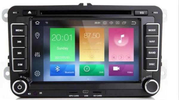 2 Din 7 inch Octa core Android 9.0 vw car dvd for Polo Jetta Tiguan passat b6 cc mirror link wifi Radio CD in dash 3g camera map