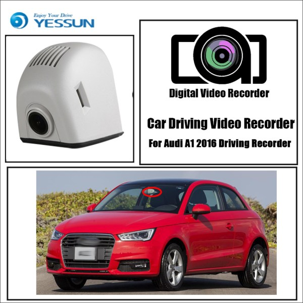 YESSUN for Audi A1 2016 Driving Recorder Car Dvr Mini Wifi Camera Full HD 1080P Car Dash Cam Video Recorder Original Style