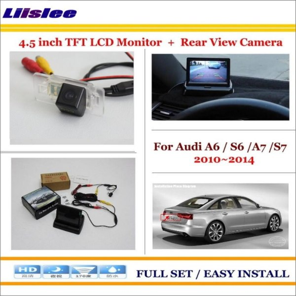 """Liislee For Audi A6 / S6 / A7 / S7 2010~2014 Car Rear Camera + 4.3"""" TFT LCD Screen Monitor = 2 in 1 Back Up Parking System"""