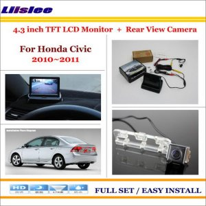 "Liislee For Honda Civic 2010 2011 / 4.3"" TFT LCD Monitor + Car Rearview Back Up Camera = 2 in 1 Car Parking System"