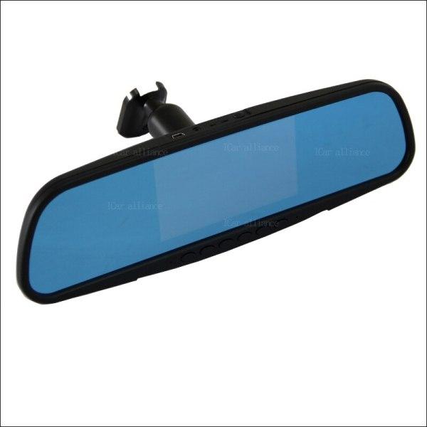BigBigRoad For toyota alphard land cruiser Prius previa Dual Lens Car Mirror DVR Camera Blue Screen Video Recorder Dash Cam