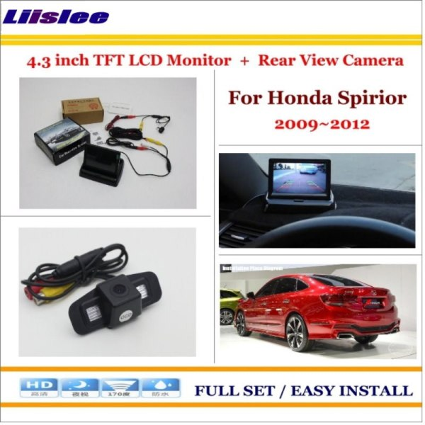 "Liislee For Honda Spirior 2009~2012 Car Parking Camera + 4.3"" LCD Monitor NTSC PAL = 2 in 1 Parking Rearview System"