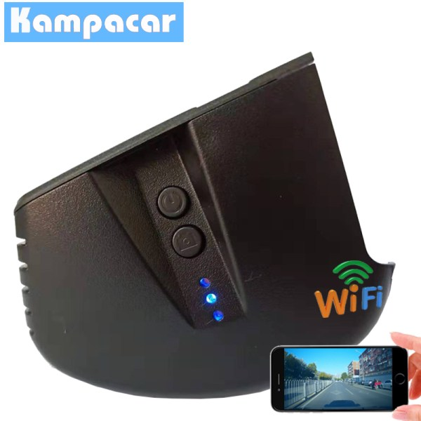 Kampacar Car DVR Dash Cam Camera Video Recorder 1080P For Audi A1 A3 A4 A5 A6 Q3 Q5 Q7 TT After 2011 With Black Interior 2 Dvrs
