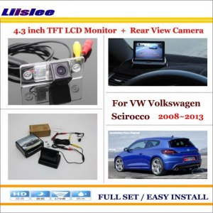 """Liislee For VW Volkswagen Scirocco 2008~2013 In Car 4.3"""" Color LCD Monitor + Car Rear Back Camera = 2 in 1 Park Parking System"""