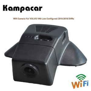 Kampacar Wifi Car Dvr Driving Video Recorder Dash Cam Camera Auto Rearview Mirror For VOLVO V40 T4 T5 2015-2018 2 DVRs