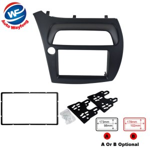 Double Din DVD Stereo CD Fascia Radio Panel Dash Mounting Installation Trim Kit Bezel Fit For Honda Civic