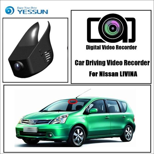 YESSUN for Nissan LIVINA Car Driving Video Recorder DVR Mini Wifi Camera Novatek 96658 FHD 1080P Dash Cam Original Style