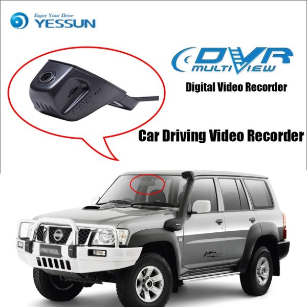 YESSUN for Nissan patrol Car Driving Video Recorder DVR Mini Control APP Wifi Camera Registrator Dash Cam Original Style