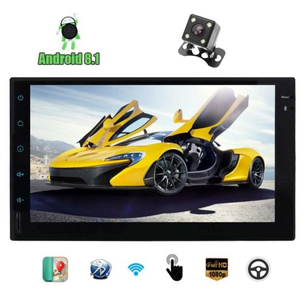 "2 Din Head Unit No-DVD Player GPS Navigation Car Radio Built-in Bluetooth WiFi FM/AM /RDS/USB 7"" Android 8.1 Quad core 2GB RAM"