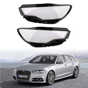 Car Left and Right Front Kit Cover Lens Headlights Fit FOR Audi C7 A6L 2013-2015 1 Pair