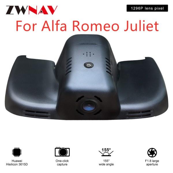 Hidden Type HD Driving recorder dedicated For Alfa Romeo Juliet 2017-2018 DVR Dash cam Car front camera WIfi