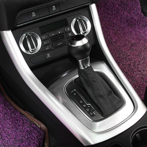 ABS Plastic For Audi Q3 Car Styling accessories Car gear shift knob frame panel Cover Trim 2012 2013 2014 2015