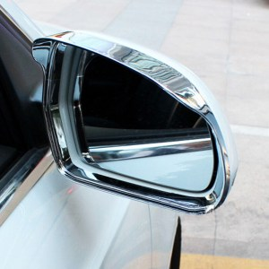 Fit For Audi Q3 2013 2014 2015 ABS Plastic rearview mirror block rain eyebrow Cover Trim sticker Molding Car Styling Accessories