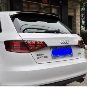 For Audi Q3 Hatchback Roof 2013 - 2019 ABS Plastic Gloss Black Color Rear Roof Spoiler Wing Trunk Lip Boot Cover Car Styling