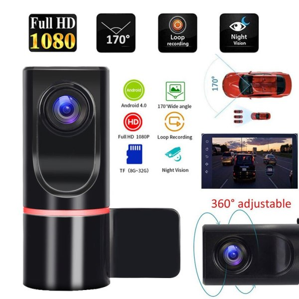 ADAS Dash Cam Car DVR Camera Driving Video Recorder For Android Car Radio USB Support TF Card Motion Detection