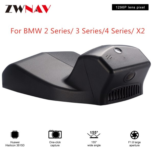 Hidden Type HD Driving recorder dedicated For BMW 2 Series/ 3 Series/4 Series/ X2 DVR Dash cam Car front camera WIfi