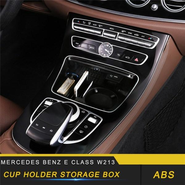 For Mercedes Benz E Class W213 2017-2019 Car Central Armrest Storage Organizing Box Organizer Case Interior Accessories