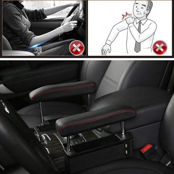 Car Seat Modified Armrest Box Elbow Support Free Punching Universal Lifting Armrest Elbow Support Seat Clip Gap Storage Box