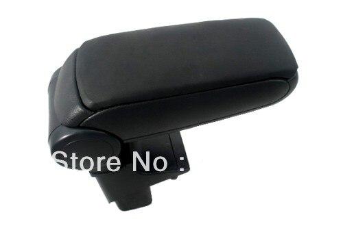 Center Console Armrest Black Leather For Honda Jazz First Generation 2001-2008