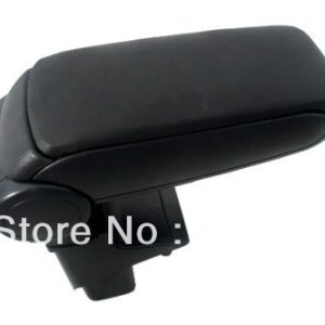 Center Console Armrest Black Leather For Honda Jazz First Generation 2001-2008