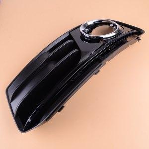 DWCX Plastic Front Left Bumper Lower Grille Fog Light Cover with Chrome Ring Trim fit for Audi Q5 2013 2014