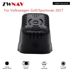 Hidden Type HD Driving recorder dedicated For Volkswagen Golf/Sportsvan 2017 DVR Dash cam Car front camera WIfi