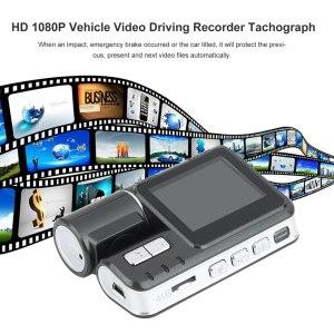 "Dual Lens Car DVR Camera I1000 Full HD 1080P 2.0""TFT Dash Cam IR LED Light Night Vision H.264 Rotatable Lens Video Recorder"