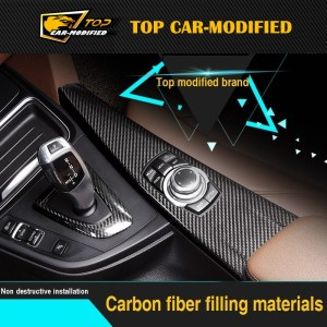 Free shipping Carbon Fiber Interior Dashboard Trims for BMW 3series low version 10pcs/set