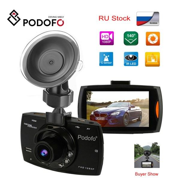 2019 Podofo A2 Car DVR Camera G30 Full HD 1080P 140 Degree Dashcam Video Registrars for Cars Night Vision G-Sensor Dash Cam