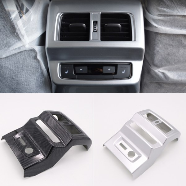 For Audi Q5 2018 ABS Plastic Interior Armrest Box Rear Air Condition Vent Outlet Cover Trim 1pcs Car Styling