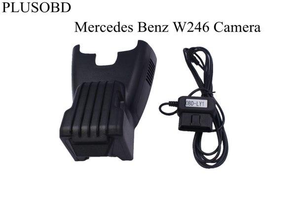 PLUSOBD Dedicated Dash Cam Wifi Hidden DVR Vehicle Camera Manufacturer For Mercedes Benz W246 2013-2016 HD 1080P+OBD2 Adapter