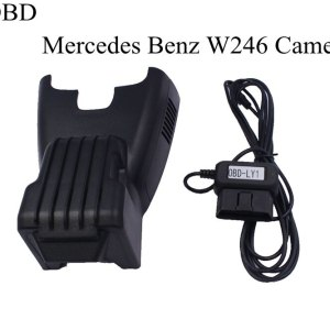 PLUSOBD Dedicated Dash Cam Wifi Hidden DVR Vehicle Camera Manufacturer For Mercedes Benz W246 2013-2016 HD 1080P+OBD2 Adapter