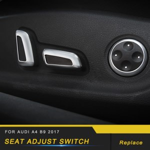 For Audi A4 A5 S4 S5 B9 2017 2018 Car Seat Adjust Memory Switch Panel Cover Trim Sticker Frame Interior Accessories