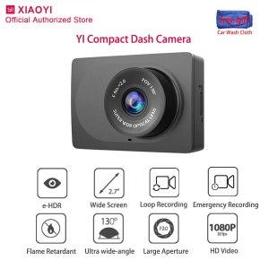 Original Yi Compact Dash Cam Night Vision Smart Car Camera 1080P Wide Angle Dashcam Auto Recording Video Recorder 2.7 inch Dvr