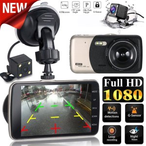 LCD IPS Dual Lens Car Dash Cam FHD 1080P Dashboard Camera