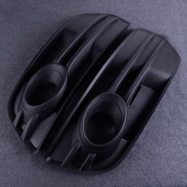 Plastic Black Car Front Bumper Vent Grill Fog Light Grille Cover 8R0 807 681 A/8R0 807 682 A Fit For AUDI Q5 2009 2010 2011 2012