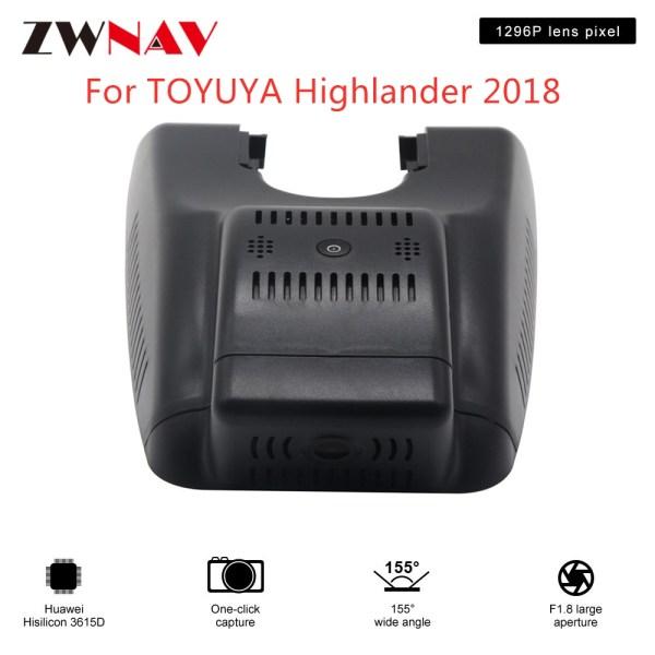 Hidden Type HD Driving recorder dedicated For TOYUYA Highlander 2018 DVR Dash cam Car front camera WIfi
