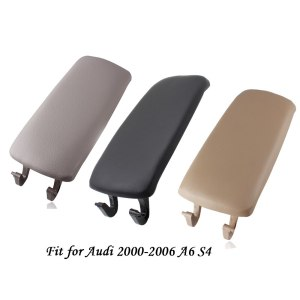 New Leather And ABS Plastic Armrest Center Console Lid Cover For Audi A4 S4 A6 2000-2006 Black Grey Beige New Styling